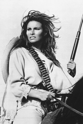 Raquel Welch 24x36 Poster 100 Rifles on horseback