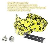 Bike Cork Handlebar Tape, Mountain Bicycle Non-slip Sweat Shockproof Wrapped Handle Bar Tape (yellow-black)