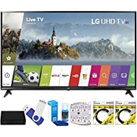 LG 65UJ6300 65 Super UHD 4K HDR Smart LED TV (2017 Model) Plus Terk Cut-the-Cord HD Digital TV Tuner and Recorder 16GB Hook-Up Bundle
