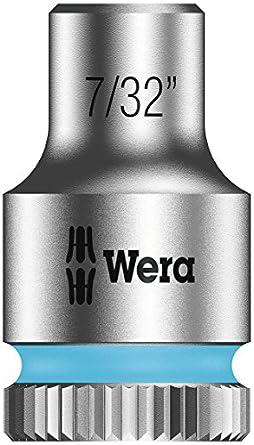 """Wera Zyklop 8790 HMA 1/4"""" Socket, Hex head 7/32"""" x Length 23mm"""