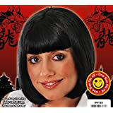 Ladies Short Black Bob Wig Pulp Fiction Mia Hollywood Fancy Dress