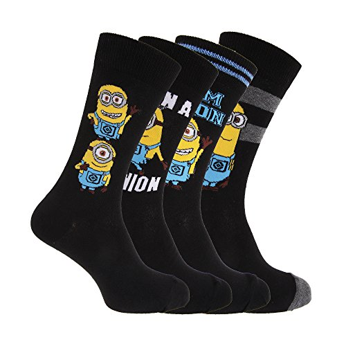 Despicable Me Mens Minions Ankle Socks