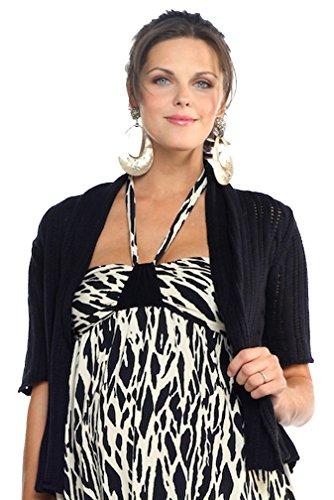 Maternal America Short Sleeve Maternity Sweater - Black - Large