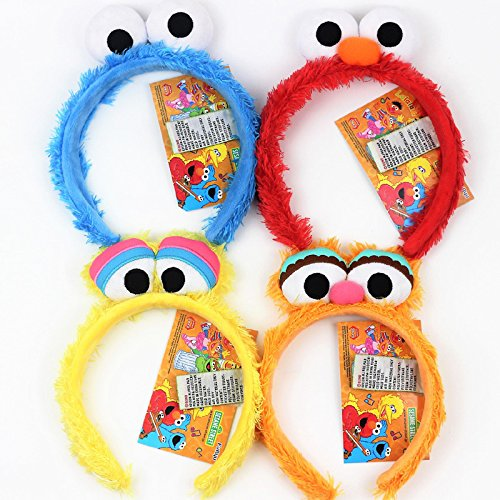 Sesame Street Elmo girls creative plush hair bands hair jewelry to sell Meng lovely Party Decoration for women girl lady