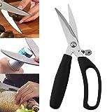 Chef Sharp Kitchen scissors Fish Chicken scissors multifunctional kitchen scissors stainless steel bone she