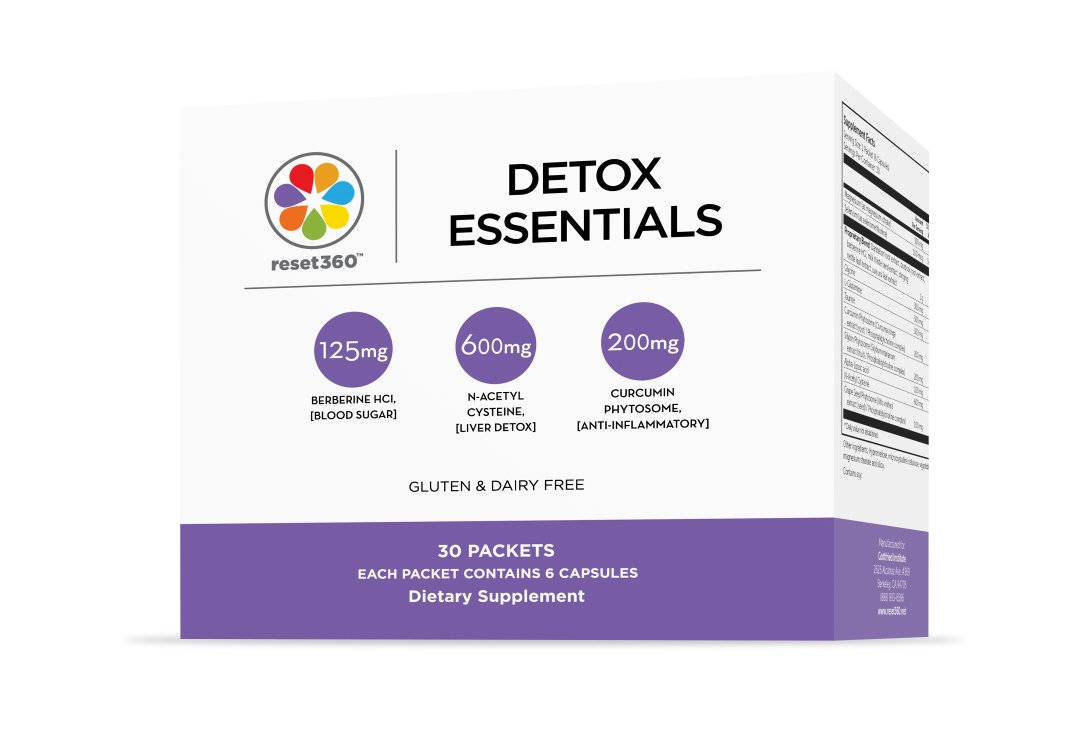 Reset360 Detox & Cleanse Program Complete Multivitamin (for liver cleanse and weight loss) from MIT-trained Dr Sara Gottfried author of The Hormone Reset Diet