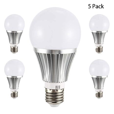 YDYG Pack de 5 Bombillas LED E27 WiFi, RGB, Intensidad Regulable, con Bombilla