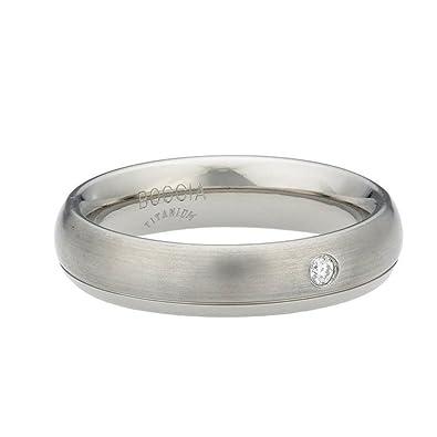 Boccia 0130-04 Women's You & Me Ring Titanium Diamond (0.025 ct) Brilliant-Cut White lmXLYwo