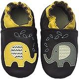 Rose & Chocolat Chaussures Bébé Zigzag Elephant Marron