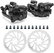 Bike Disc Brake Kits, Mountain Bicycle Folding Bike Mechanical Front and Rear Brake Caliper Rotor Sets
