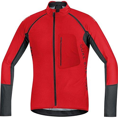GORE BIKE WEAR 2 in 1 Herren Soft Shell Mountainbike-Jacke, Abnehmbare Ärmel, GORE WINDSTOPPER, ALP-X PRO WS SO, Größe: XXL, Rot/Schwarz, SWPALP