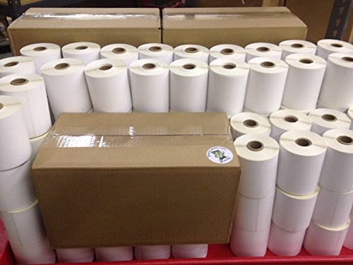 "16 Rolls of 500 4"" x 3"" Direct Thermal for Zebra 2844 ZP-450 ZP-500 ZP-505 Shipping Labels, 1"" Cores Roll. 8000 Blank Labels Brand Made in the USA."