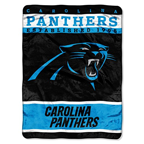The Northwest Company NFL Carolina Panthers 12th Man Plush Raschel Throw, 60