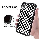 Case Compatible with Apple iPhone Xr (6.1 Version) Grid Lattice Plaid Quadrille Tartan Design Check Pattern Damier House Checkerboard Chessboard Checker Flag