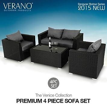 Verano ® Venice Rattan Garden Furniture Salon de jardin d ...