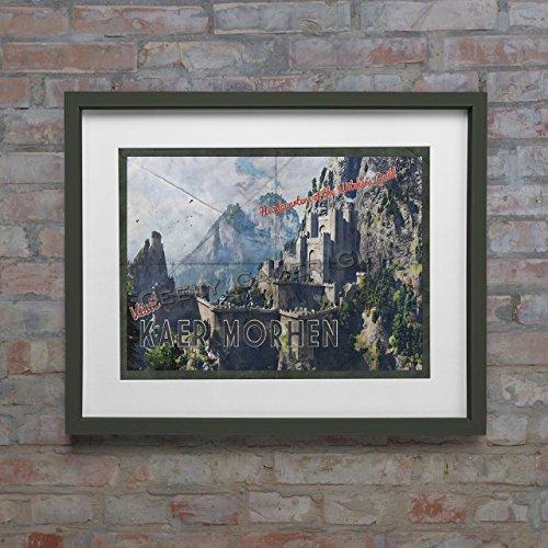 Kaer Morhen Poster   Witcher travel poster   Vintage travel poster   Videogame art **NO frame or mat included** 11x17