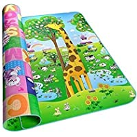 Gion Waterproof Double Sided Baby Play Mat for Child, Crawl Floor Mat for Kids Picnic Play School Home