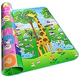 Gion Waterproof Double Sided Baby Play Mat for Child, Crawl Floor Mat for Kids Picnic Play School Home Sleeping Mats at amazon