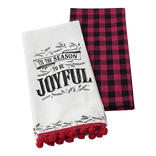 "Hallmark Home Decorative Cotton Kitchen Tea Towels  ""Tis the"