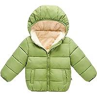H.eternal (TM ) para niños de 0-5 años de Invierno con Capucha Forro Polar Interior Chamarra Gruesa cálida Ropa de…