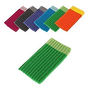 BRALEXX Funda Calcetín Textil Adecuado para Samsung Sony Apple Huawei HTC Nokia Microsoft Alcatel Motorola - HTC Desire 510, Verde