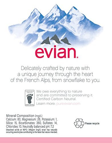 evian dSpqaswfg Natural Spring Water Individual 500 ml (16.9 oz.) Bottles, Naturally Filtered Spring Water in Individual-Sized Plastic Bottles, 2 Cases of 24 by evian (Image #2)