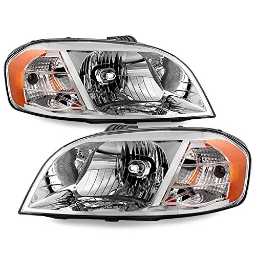 (ACANII - For 2007-2011 Chevy Aveo 07-09 Pontiac G3 Wave Notchback (Sedan Model) Headlights Replacement Driver+Passenger)