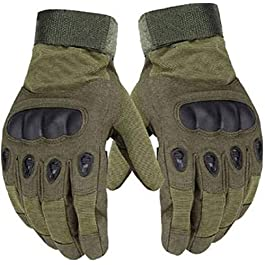 Navkar Crafts Full Finger Hard Knuckle Motorcycle Army Shooting Tactical Outdoor Breathable Gym & Fitness Riding Gloves…
