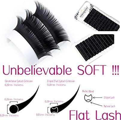 9dbba7a911a 0.20 Ellipse Eyelash Extensions Flat Lashes as Soft as 0.05 Lashes Cashmere  Faux Mink Individual Eyelash Extensions Ellipse Lash C Curl D Curl Faux  Mink ...