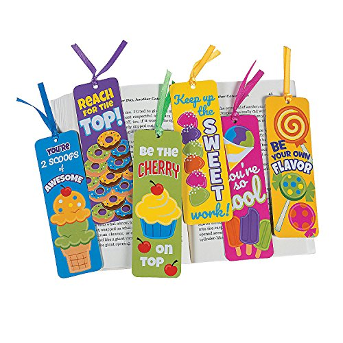 Fun Express Sweet Treat Laminated Bookmarks - 48 Pieces