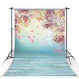 MEHOFOTO Photo Studio Background Romantic Pink Flower Petal Wedding Decoration Backdrops for Photography 5x7ft