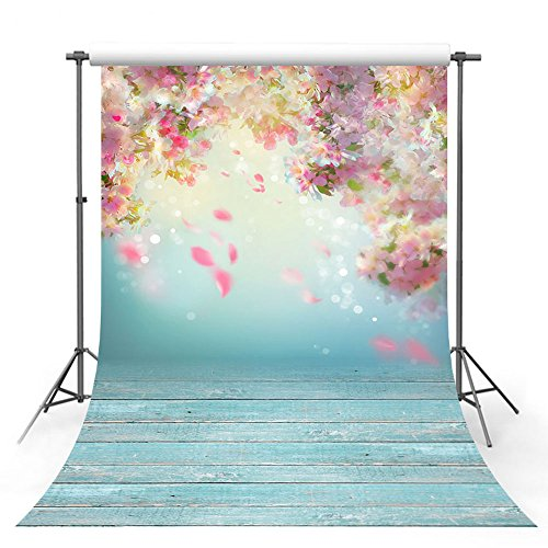 MEHOFOTO Photo Studio Background Romantic Pink Flower Petal Wedding Decoration Backdrops for Photography 5x7ft