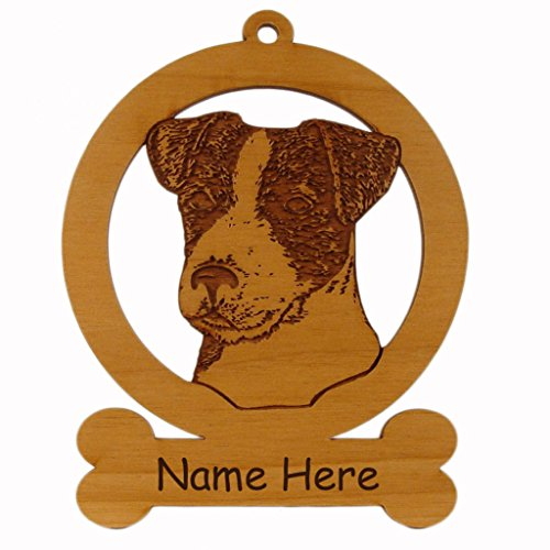 (Jack Russell Terrier Head Dog Ornament 083416 Personalized With Your Dog's Name)