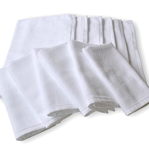 White towel made in Japan 220 monme commercial white face towel Set of 12 (japan import)