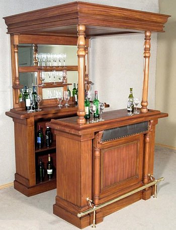 Wooden Canopy Home Bar Amazon Co Uk Kitchen Home