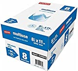Multiuse Multipurpose Copy Fax Inkjet & Laser Printer Paper, 8 1/2'' x 11'' Letter Size, 94 Bright White, 20 lb. Density, 500 sheets per ream; 8 reams per case (total of 4,000 sheets)