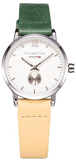 VH Londres mujeres reloj de cuarzo impermeable muñeca correa de piel relojes bicolor Interruptor para mujer verano bolsa accesorios: Amazon.es: Relojes