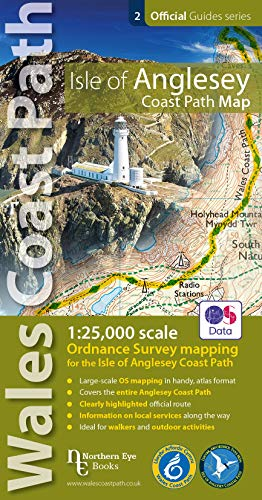 Isle of Anglesey Coast Path Map - 1:25,000 sclae OS mapping for the entire Isle of Anglesey Coast Path (OS Map Books : Wales Coast Path)