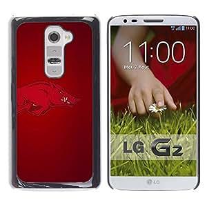 LOVE FOR LG G2 Arkansas Hogs Razorback Football Personalized Design Custom DIY Case Cover