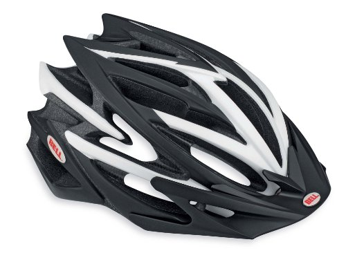 Bell Volt Racing Bicycle Helmet, Matte Black/White, Medium