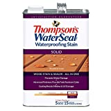 deck stain colors THOMPSONS WATERSEAL TH.043851-16 Solid Waterproofing Stain, Woodland Cedar