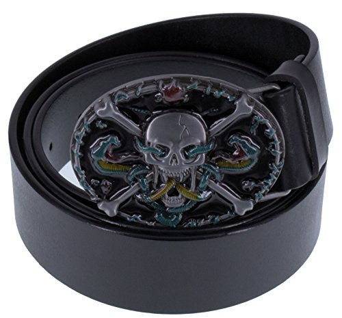 ABC-STORY-Mens-Steampunk-Gothic-Full-Grain-Leather-Snake-Skull-Buckle-Belt-Black