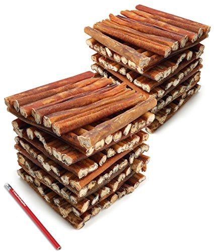 ValueBull Bully Sticks Dog Chews, 6 Inch Thick, All Natural, 200 Count from ValueBull