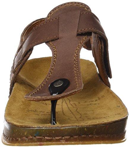 ART 0865 Olio We Walk, Zapatillas de Estar por Casa con Talón Abierto Unisex Adulto Marrón (Brown)