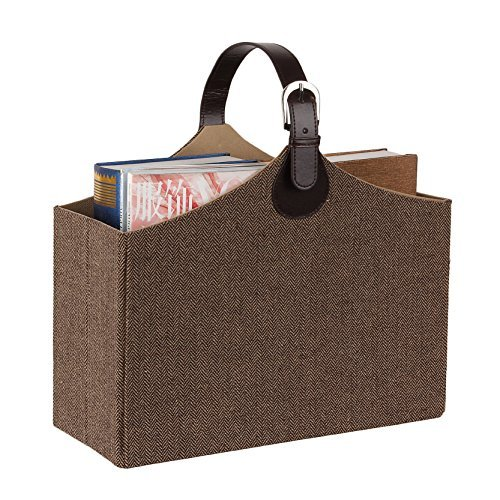 Newspaper Rack Magazine Holder Basket Bins Office Classroom Paper Stuff Storage Dresser Container by BELLAMORE GIFT