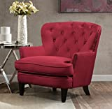 Argo Furniture Collingdale Wood Frame Claret Armchair, Red Review