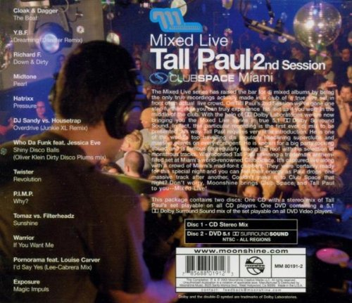 Mixed Live: 2nd Session Clubspace Miami (with Bonus DVD in 5.1 Surround Sound) by Moonshine Music