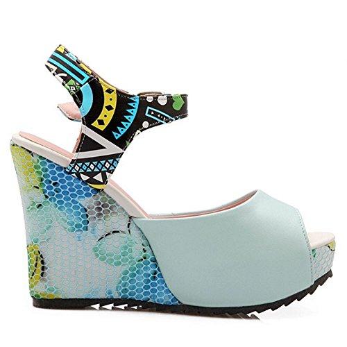 Moda Blue Sandalias Tacon Zanpa Cuna Mujer de 8q4owR1