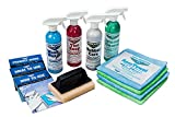 Complete Car Care Kit - Wash Wax ALL, Interior Cleaner, Tire Soap, Rubber Conditioner, Aircraft Grade & Quality for your Car, Boat & RV