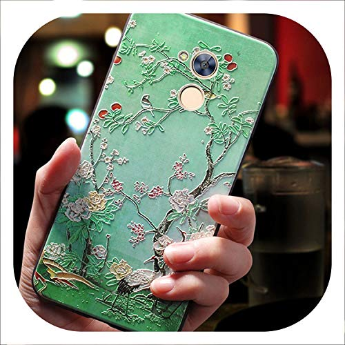 3D Phone Coque,Cover,case for Huawei Honor Silicone Luxury Silicon Back Original 360 Cases,Peach,for Huawei Gr5 2017